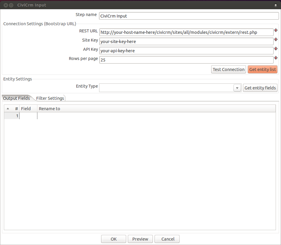 First View of the New CiviCRM Plugin for Pentaho Data Integration