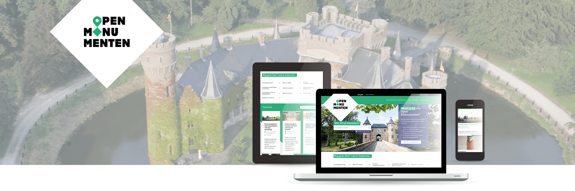 Responsive new website for Open Monuments