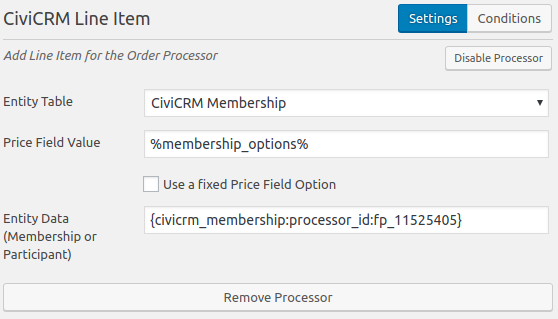CFC Line Item Processor with Membership