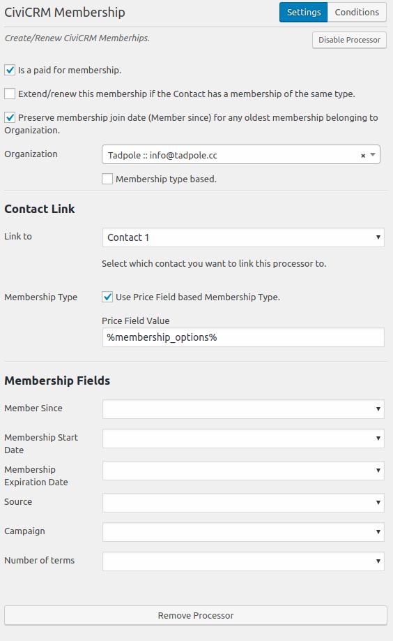 CFC Membership Processor