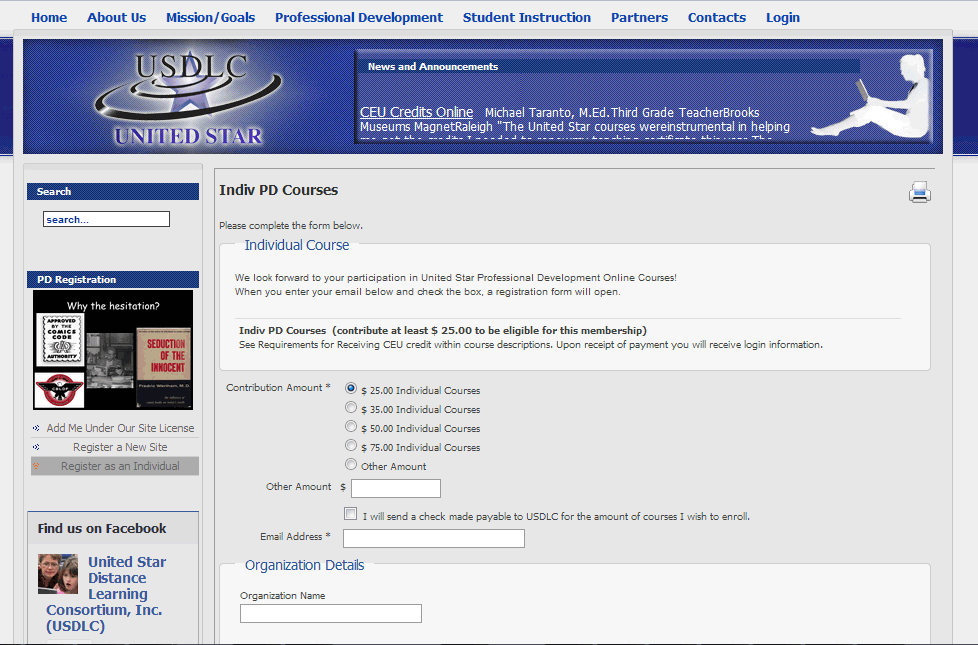 USDLC Registration Interface