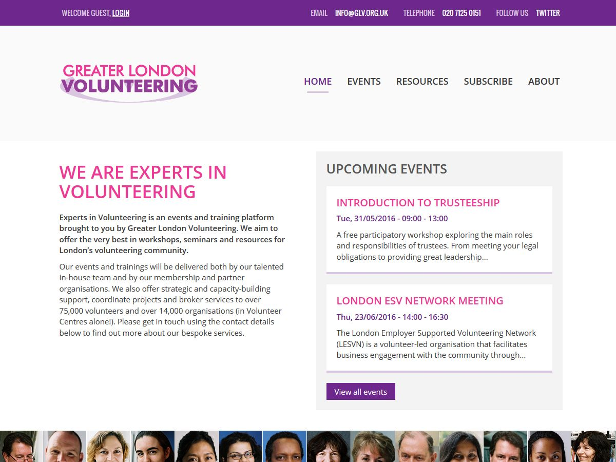 Experts in Volunteering website
