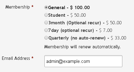 Membership self signup and auto renewals | CiviCRM