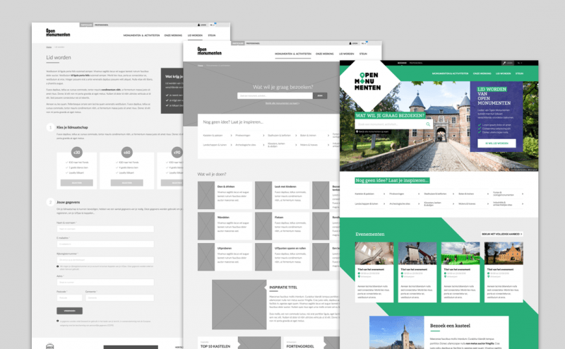 From architecture to clickable prototype to design