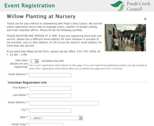 Event Registration Page