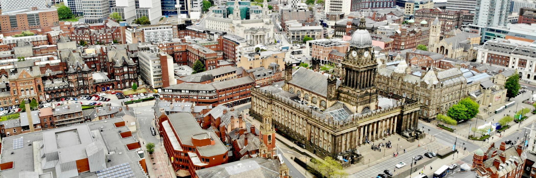 Aerial view of Leeds