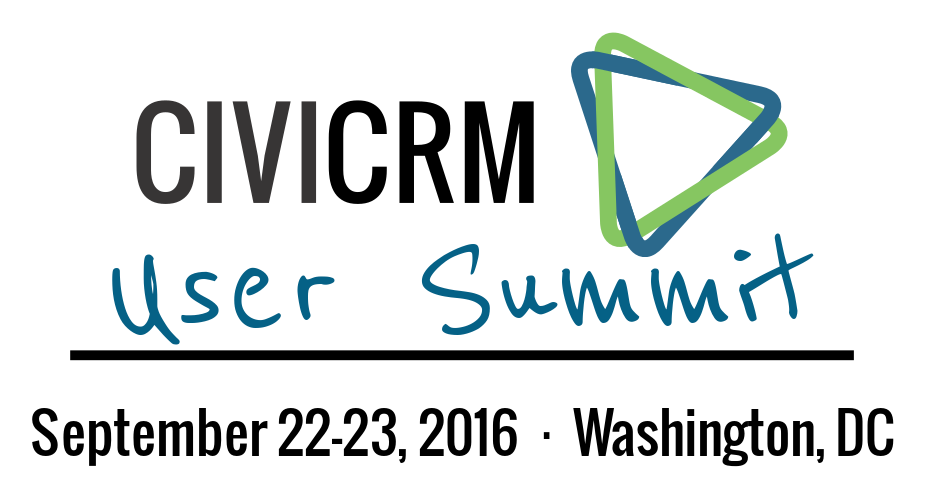 [logo] CiviCRM User Summit - September 22-23, 2016 - Washington, DC